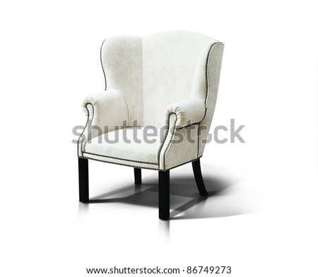 White luxurious armchair - stock photo