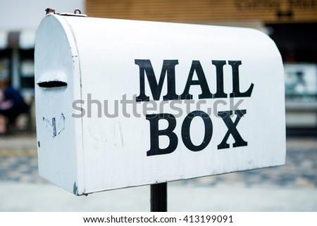 White Mail Box - stock photo
