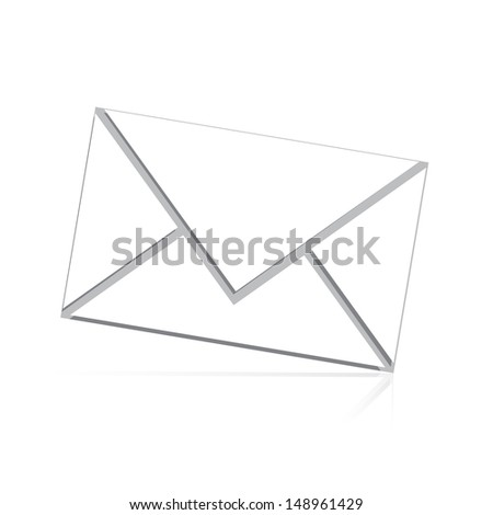 white mail isolated