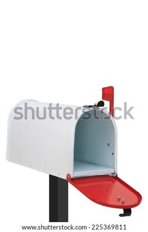 White mailbox - stock photo