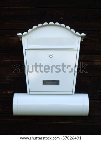 White mailbox - stock photo