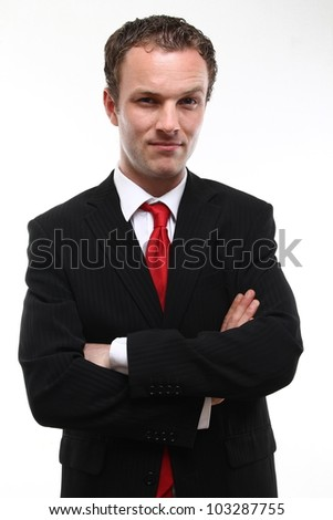 white man and his suit - stock photo