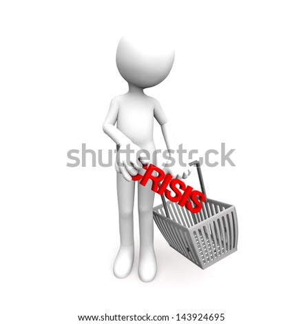 White man with shopping cart