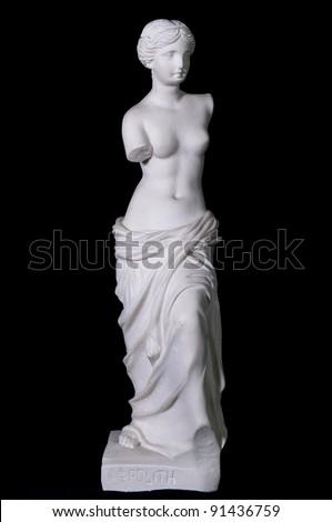 "White marble classic statue ""Aphrodite of Milos"" - stock photo"