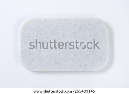 White marble cutting board - stock photo