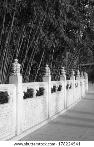White marble railings in the Jingshan Park, beijing, china