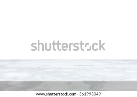 White marble stone countertop - can be used as background for display or montage your products - stock photo