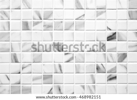 White marble-stone mosaic texture background