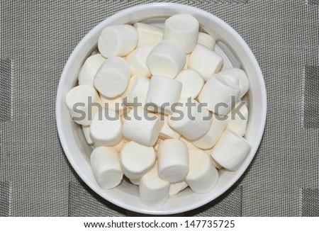 White marshmallows - stock photo