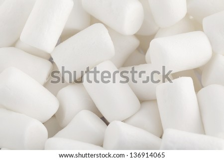 White marshmallows close up - stock photo