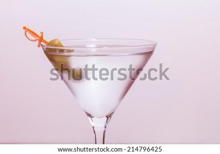 white martini glass - stock photo
