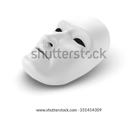 White mask, theater concept  - stock photo