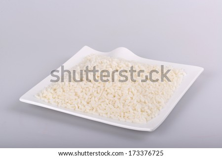 White matta rice - stock photo