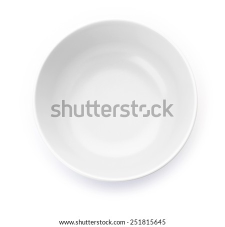 White matted bowl on white background  - stock photo