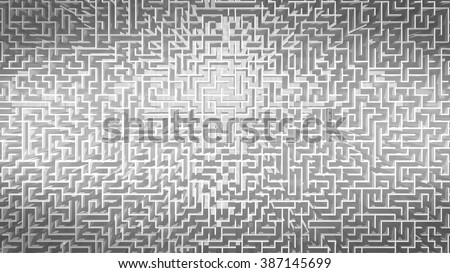 White Maze Pattern Background - stock photo