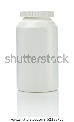white medical bottle - stock photo