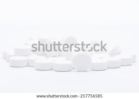 White medicine pills - stock photo