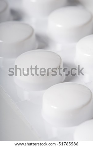 white medizine - stock photo