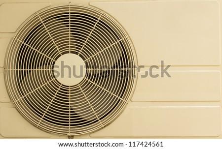 White metal air compressor - stock photo