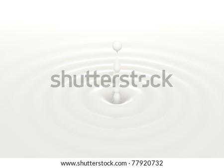 white milk drop splash  or white liquid - stock photo