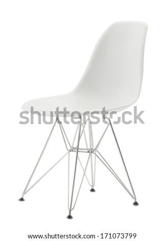 white minimal isolated chair - stock photo