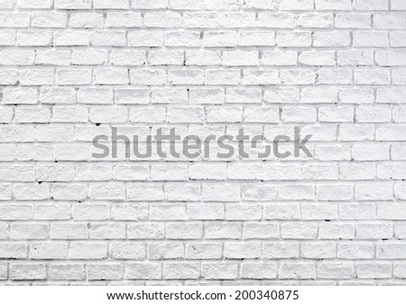 White misty brick wall for background, texture - stock photo