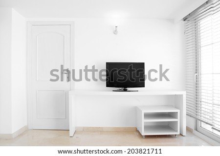 White modern and clean home interior room - stock photo