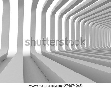White Modern Architecture Abstract Background. 3d Render Illustration - stock photo