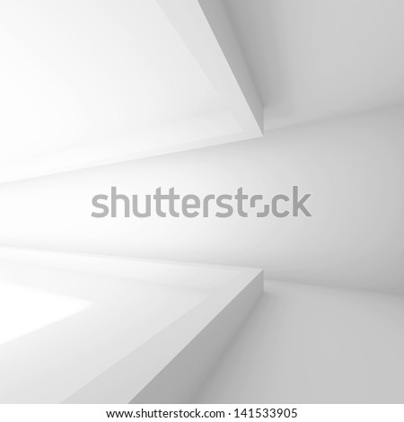 White Modern Interior Design - stock photo