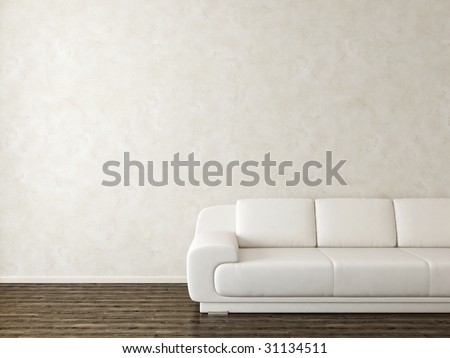 White modern interior - for variations this picture visit my portfolio - stock photo