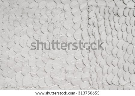 White mortar or cement wall texture for background. - stock photo