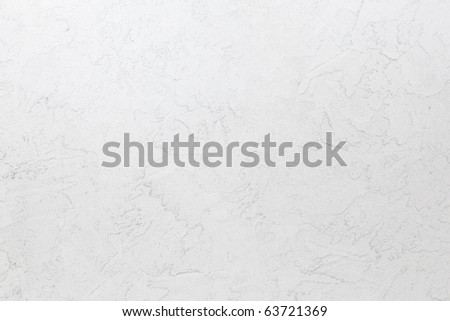 White mortar wall texture. Hand applied mortar wall. - stock photo
