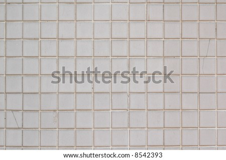 White Mosaic background - stock photo