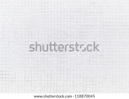 white mosaic pattern on  wall - stock photo