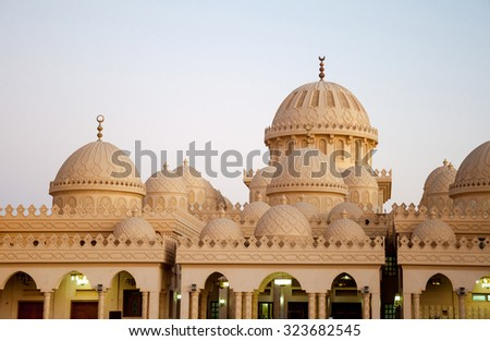 White Mosque in the Arabian desert