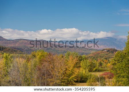 White mountain National forest in autumn, New  Hampshire. - stock photo