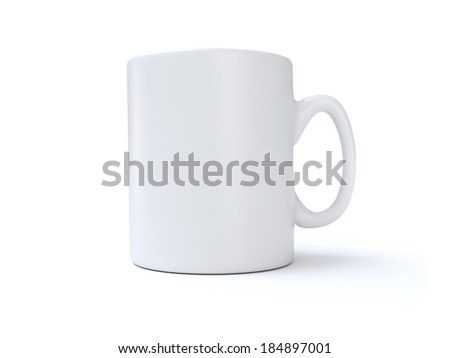 White Mug - stock photo