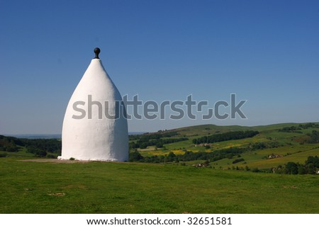 White Nancy folly in Bollington, Cheshire, England - stock photo