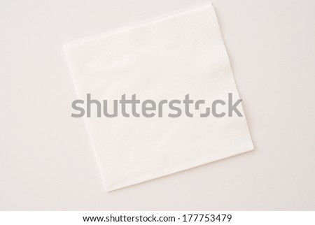 white napkins - stock photo