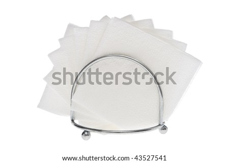 White napkins on white. - stock photo