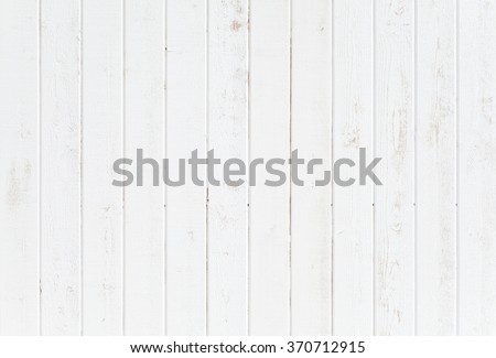 White natural wood wall texture and background seamless - stock photo