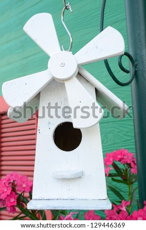 white nesting box - stock photo