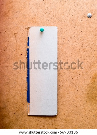 white note paper on wood background - stock photo