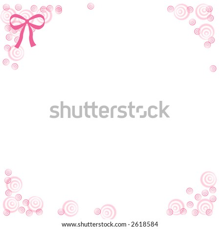 White note paper flower border bowcardclipart stock photo 2618584 white note paper with flower border and bowcardclip art mightylinksfo