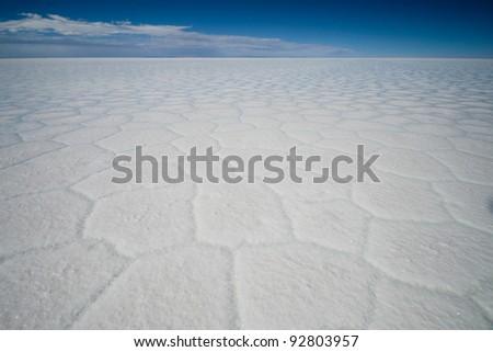 white of the Salt flat of Bolivia - stock photo