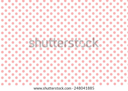 White old retro paper background with small pink polka dot pattern - stock photo
