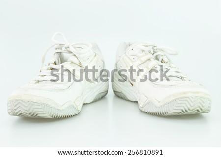 White old shoe - stock photo