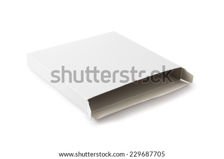 White Open Package Box , Isolated on white