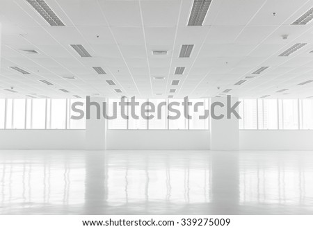 White open space office interior can be used as background - stock photo