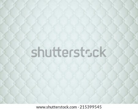 White or grey leather pattern with buttons and bumps. Luxury background - stock photo